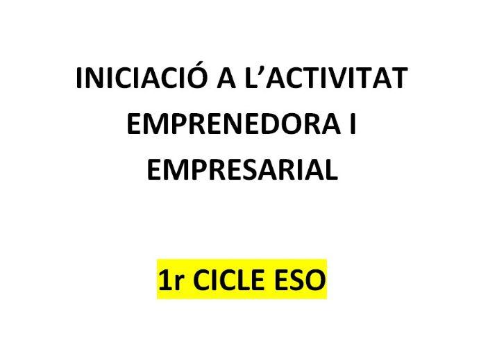 Currículum Iniciació a l