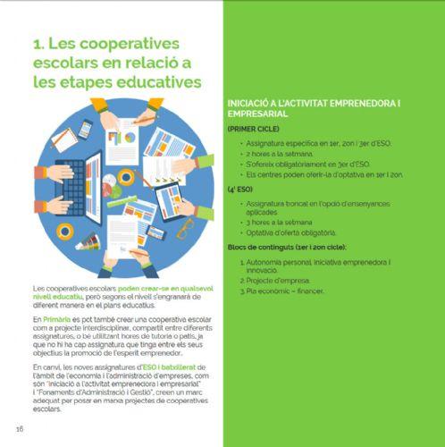 Les cooperatives escolars en relació a les etapes educatives