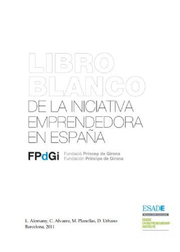 Llibre blanc de la iniciativa emprenedora a Espanya (Fundació Princep de Girona)
