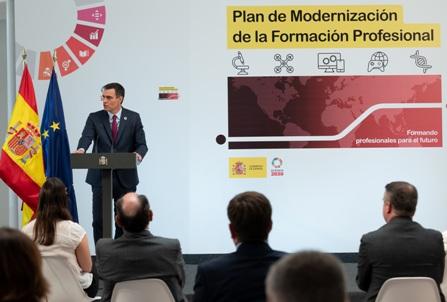 Sánchez presenta el Plan de Modernización de la Formación Profesional