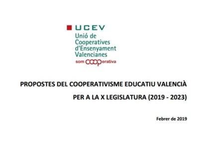 La UCEV presenta als grups polítics valencians les seues propostes del cooperativisme d'ensenyament per a la propera legislatura