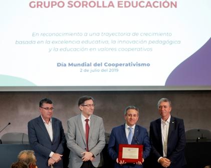 Homenatge a la trajectòria del Grupo Sorolla Educación en el Día Mundial del Cooperativisme